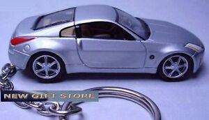 KEY CHAIN SILVER NISSAN 350Z Z33 Z CAR FAST & FURIOUS NEW CUSTOM LIMITED EDITION
