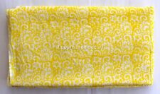 5 Yard indian Hand Block Print 100% Cotton Yellow Design Dabu fabric M#347