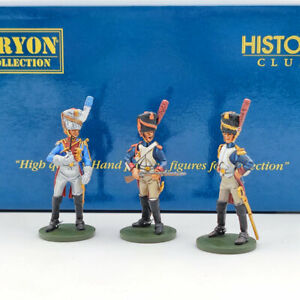 ORYON 1:32 French Young Guard Fusiliers 1809 SET Of 3 Metal Soldiers 6005 Used