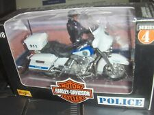 Toy Maisto 1:18 Harley Milwaukee Highway Patrol Police dept Motorcycle series 4