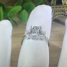 1 1/4 Ct D/vvs1 Three Stone Engagement Ring in 14k White Gold