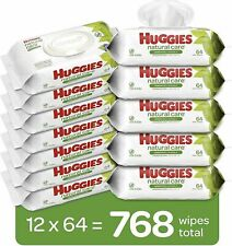 Huggies Natural Care Sensitive Baby Wipes, Unscented 12 Flip-Top Packs - 768ct