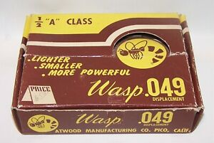 New In Box 1950 Atwood WASP .049 Glow C/L-F/F Model Airplane Engine