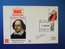 1982 ROYAL Shakespeare società il coperchio Barbican firmato da Sir John gilgeud