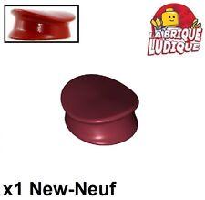 Lego - 1x Minifig headgear hat chapeau casquette police rouge dark red 3624 NEUF