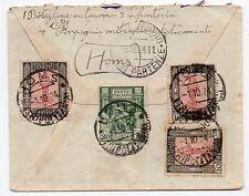 1924 TRIPOLITANIA 4 VALORI SU LETTERA HOMS 1/10 C/4188