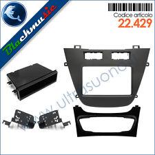 Kit mascherina autoradio ISO/2DIN Opel Insignia (dal 2008) con modanature nere