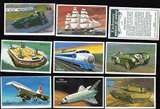 Cigarette cards Wills concorde hovercraft World of Speed 1981 mint set