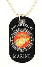US Marines DOG TAG NECKLACE & Chain - NEW - N-2124