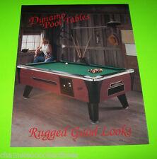 DYNAMO POOL TABLES RUGGED ORIGINAL VINTAGE FOLD-OUT SALES FLYER BROCHURE
