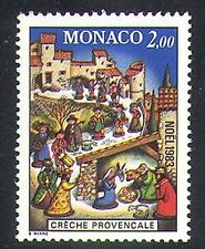Monaco 1983 Christmas/Creche/Nativity/Animals/Greetings 1v (n37783)