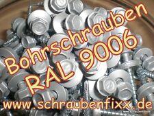 100 Bohrschrauben 18/76 Alu Wellplatten Wellbleche Aluwelle 4.8 x 35 mm RAL 9006
