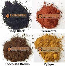 Colored Concrete Powder Mixed Lot RED BROWN BLACK YELLOW Pigment Dye Cement 8-oz