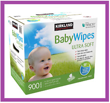 Kirkland Signature Baby Wipes 900-Count W/ Aloe,Chamomile Hypoallergenic Free Sh