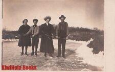 RPPC Postcard People Ice Skating c. 1900s