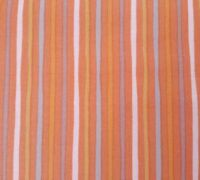 """10"""" Special Delivery Quilting Treasures Orange Gold Gray White Stripe"""