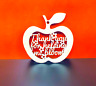 Mdf Teachers Apple Thank you for helping me WC1235 Craft Blank
