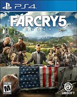 Far Cry 5 Standard Edition For PlayStation 4 PS4 PS5 Shooter