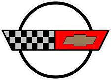 "#3327 (2) 2"" Corvette C4 logo Emblem Decal Sticker LAMINATED"