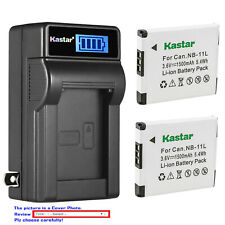 Kastar Battery LCD Wall Charger for Canon NB-11L Canon PowerShot A2300 A2300 IS