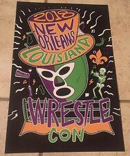 "11"" X 17"" Wrestlecon 2018 New Orleans Louisiana Event Poster, WrestleMania 34"