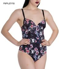 2fc0e01a1d8c7 Hell Bunny Goth/Punk Skulls Flowers MORGAN Swimsuit Beach All Sizes