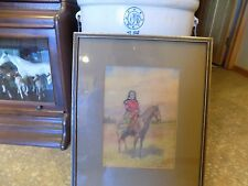 Indian Watercolor Horse Antique ROAD SHOW Painting dated 1908 signed Kottestad