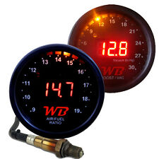 APSX 2 GAUGE COMBO D2 Wideband Air Fuel Ratio + B2 Boost Gauge - RED