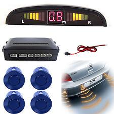New Reversing Parking Sensor Car 4 Sensors Audio Buzzer Alarm Medium Blue
