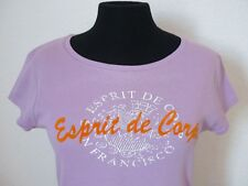 ORIGINAL ESPRIT COLLECTION DAMEN T-SHIRT EDC SHIRT RUNDKRAGEN FLIEDER ORANGE WOW