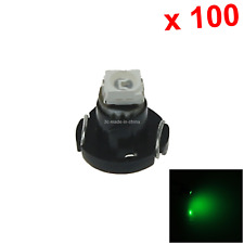 100x Green Car T3 Light NEO Dash Twist Socket HVAC Control Blub 1 1210 SMD LED N