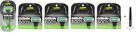 Gillette Body Razor Handle + 16 Refill Blade Cartridges + Tweezer