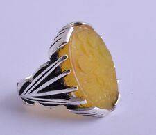 Islamic 925 Silver agate aqeeq aqiq Men Ring-yemen- yemeni- middle eastern-DHL