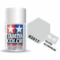 Tamiya 85017 TS-17 Gloss Aluminum Lacquer Spray Paint 100ml - US