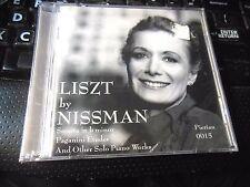 Liszt by Barabara Nissman piano (CD NEW Sonata in B Etudes Paganini Rhapsodie Es