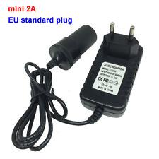 EU Plug Adapter 110/220V AC to DC 12V Car Cigarette Lighter Power Supply Charger