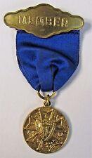 vintage KNIGHTS OF PYTHIAS MEMBER pinback medal badge +