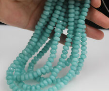 5x8mm Faceted  Amazonite Blue Jade Round Loose Beads Strand 15.5 Inch DIY Craft