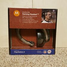 Sony PS2 Motorola NFL Gaming Headset