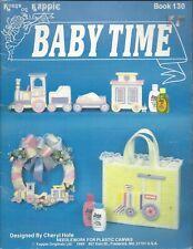 BABY TIME ~ KAPPIE ORIGINALS - plastic canvas - train - mobile - wreath - tote