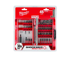 Milwaukee Impact Driver Bit Set 45 Piece Screwdriver Hex Power Tool Accessory
