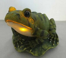Outdoor Garden Decoration Solar Powered Frog Figurine LED Light Luminary