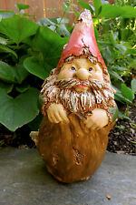 Woodland Gnome In Knapsack Garden Statue Yard Ornament resin 7 in. new