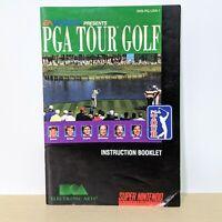 PGA Tour Golf SNES Super Nintendo Instruction Booklet Manual