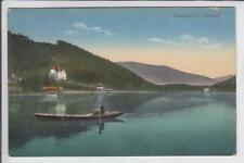 AK Mariazell, Erlaufsee, Mann im Ruderboot 1914