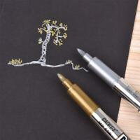 Metal Waterproof Permanent Paint Marker Pens Sharpie Gold Silver
