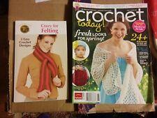 016 2011 Crochet Today Magazine & Crazy FOr Felting Lion Brand Yarn Designs