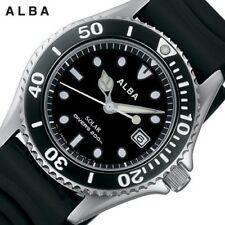 ALBA Solar Model Wristwatch 200m Mens Divers Watch AEFD530 Japan F/S New