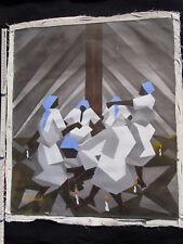 Naive Malerei Kunst aus Haiti Original Öl auf Leinwand über 30 Jahre alt Gemälde