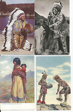LOT of 9 postcards: INDIANS - indian - WINNEBAGO, BLOWSNAKE etc.